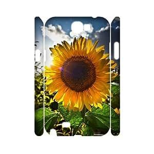 MEIMEISunflower Custom 3D Cover Case for Samsung Galaxy Note 2 N7100,diy phone case ygtg563618MEIMEI
