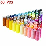 LANGYS 30 Color Polyester Sewing Thread Coils for Hand and Sewing Machine (60 Color)