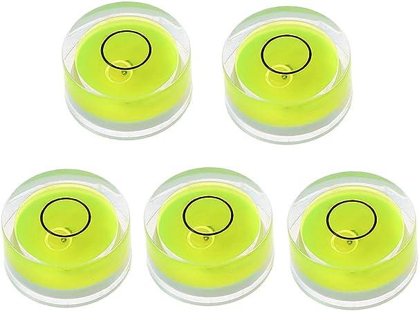 D FlowerPEI Lot de 5 mini niveaux /à bulles ronds