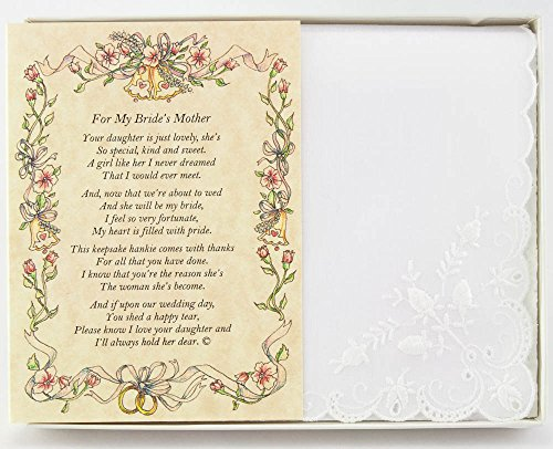 Wedding Collectibles Poetry Hankie From the Groom to the Bride's Mother Wedding - Gift Collectible
