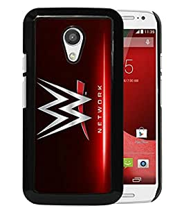 Popular And Unique Custom Designed Case For Motorola Moto G 2nd Generation With WWE Network Black Phone Case