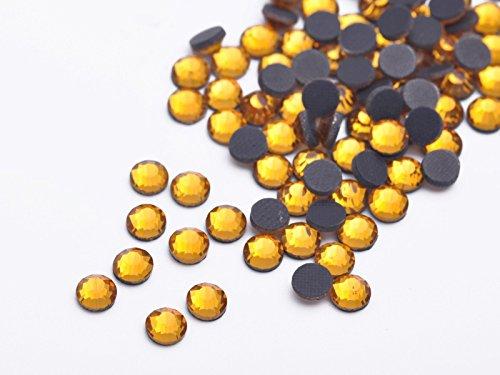 Wholesale 144Pcs SS10 SS16 SS20 SS30 Hotfix Iron-on Flatback Glass Crystal Rhinestones 3-6mm (SS16-4mm, gold)