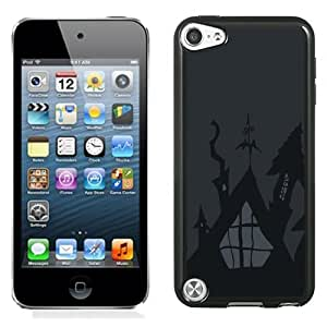 Lovely and Durable Cell Phone Case Design with Halloween Gray Illustration iPod Touch 5 Wallpaper
