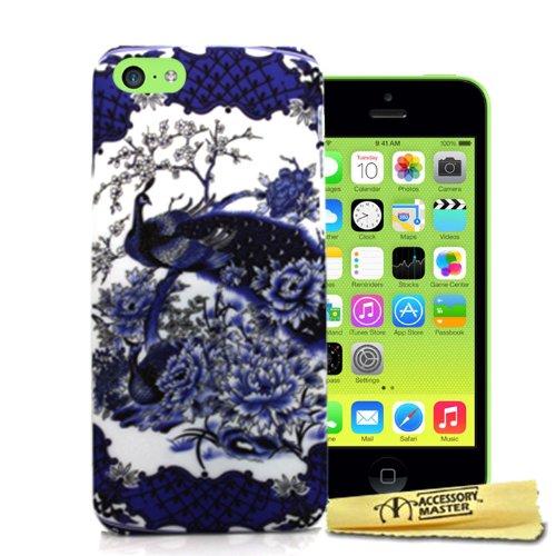 Accessory Master 5055716378498 Blumen PFAU Peacock Design Hardcover Schutzhülle für Apple iPhone 5C