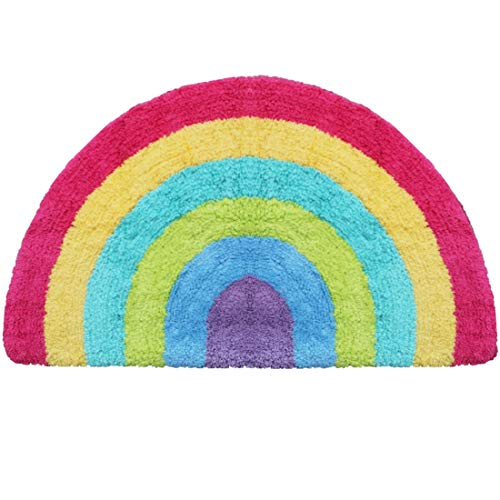 - Habudda Soft Cotton Cute Kids Nursery Door Mat Area Rugs Rainbow Door Mat Luxury Plush Kids Game Play Carpet Door Bath Rugs Baby Shower Gift 80CM50CM (Rainbow)