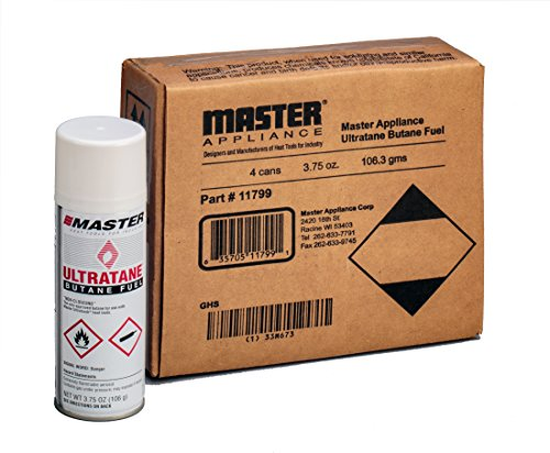 Master Appliance Ultratane Butane, 3.75 oz, 106 grams (Pack of 4) Fuel Appliances