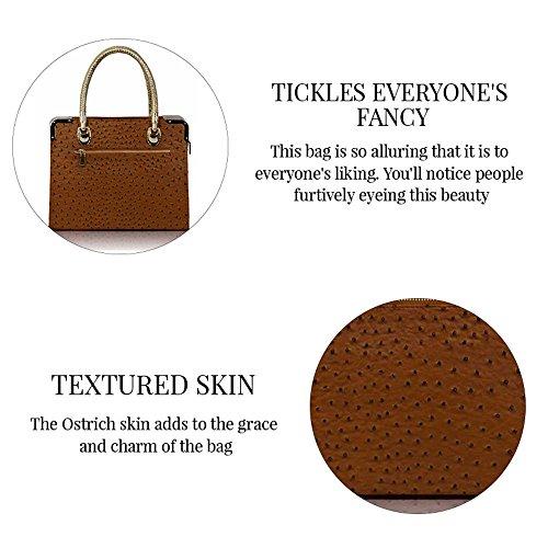 Trend Star Mujeres diseñador hombro Bolsos Mujer berühmtheit estilo piel sintética Tragetaschen CB - Brown