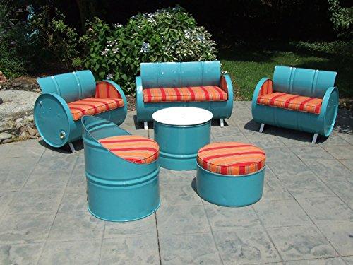 Drum Works Furniture 3004-6 6 Piece Tahoe Indoor/Outdoor Garden Patio Conversation Set (Furniture Tahoe Patio)