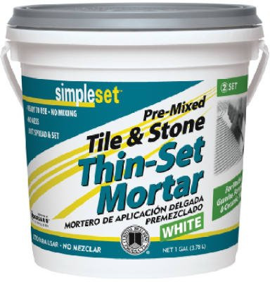 Custom Bldg Products STTSW1-2 Gallon White Thin Set Mortar