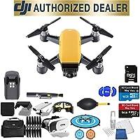 DJI Spark Quadcopter (Sunrise Yellow) Beginner Accessory Starter Basic Bundle Package Deal
