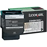 Lexmark C54x/X54x Black High Yield Toner cartridge (2.5K) for C540n / C543dn C540H1KG