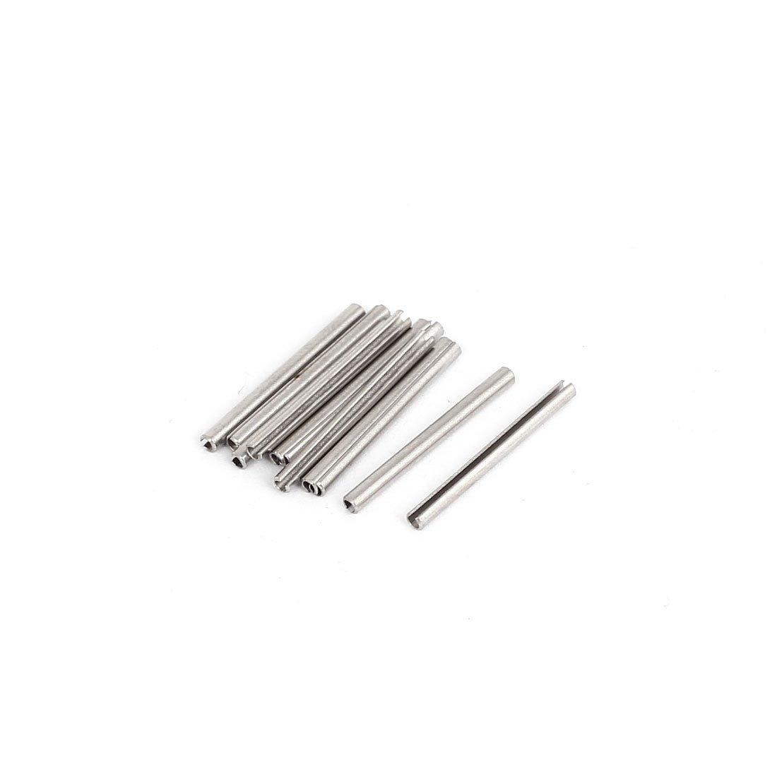 Sourcingmap® M1.5X 12mm 304Edelstahl Split Spring Rolle Spannstifte 100 a15081000ux0361