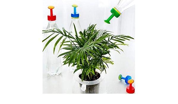 Podadora – 5 piezas de rociador de plástico portátil para jardín, boquilla de riego para plantas, pulverizador de agua, latas de agua, botellas, latas, latas, bebidas, campamentos, camiones militares, plantas tónicas de