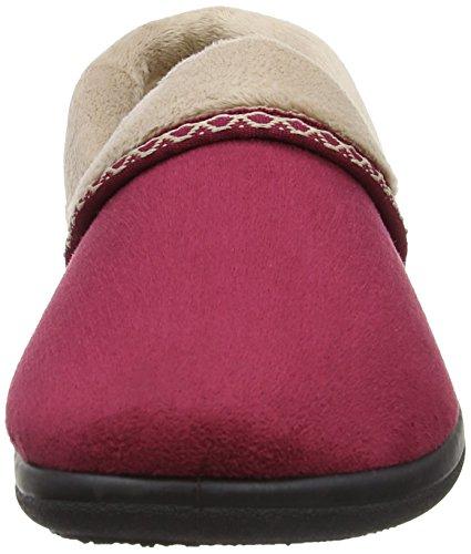 Mujer Rojo Estar Zapatillas Por wine De 460 Padders Casa qYw6W1P