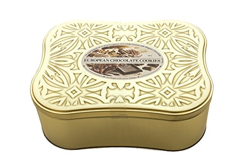 European Cookie Assortment with Belgian Chocolate In a Decorative Tin