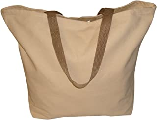 product image for Tote Bag 10 Oz Canvas,Open top Grocery Bag Reusable Bag Made in USA