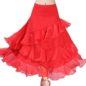 Falda de Baile Latino para Dama, Vestido Elegante de Baile para ...
