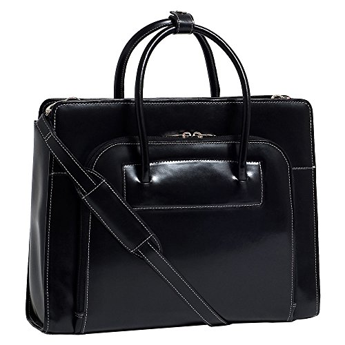 The black Series Lake Forest Leather Laptop Briefcase