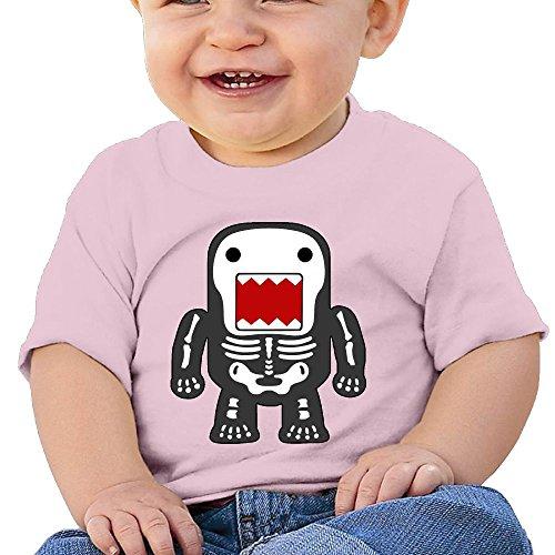 Funny Cool Domo-kun Skeleton 6 - 24 Months Baby T-shirts Round Neck Shirt 6 M - Pink Domo Costumes