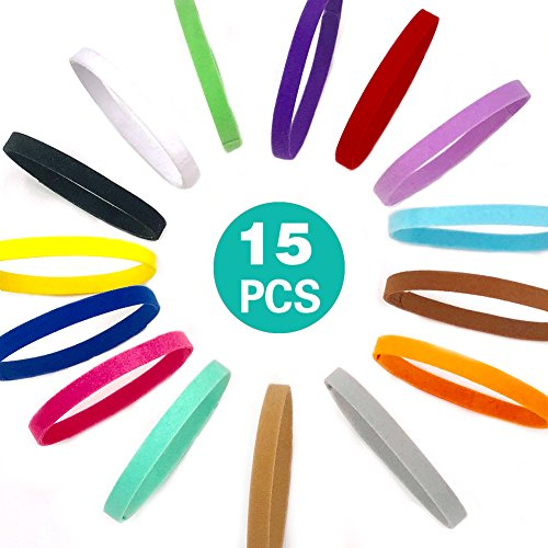 UIUIX Puppy Whelping Collars, 15 Colors Puppy ID Collars, Double-Sided Soft Adjustable ID Bands for Newborn Pet Dog Cat (15 Pcs) (Collars Band Dog)
