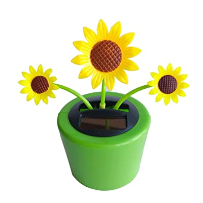 Solar Dancing Toys - Creative Flower Dashboard Ornament Shaking Head Animated Decoration Toy - Solar Dancing Swinging Toys for Car Windowsill Decoration (14x6x6cm, N): Toys & Games