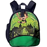 Kids Toddler Ben 10 Preschool Travel Camping Backpack Navy