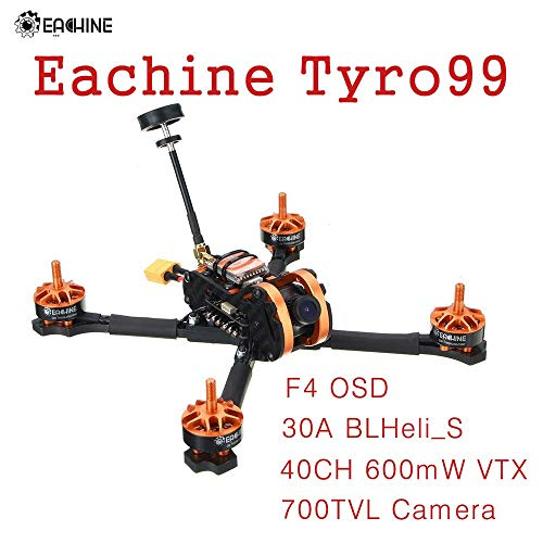 Eachine Tyro99 210mm DIY Version FPV Racing RC Drone Quadcopter F4 OSD 30A BLHeli_S 40CH 600mW VTX 700TVL Camera