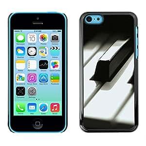 X-ray Impreso colorido protector duro espalda Funda piel de Shell para Apple iPhone 5C - Music Black White Keys Musician