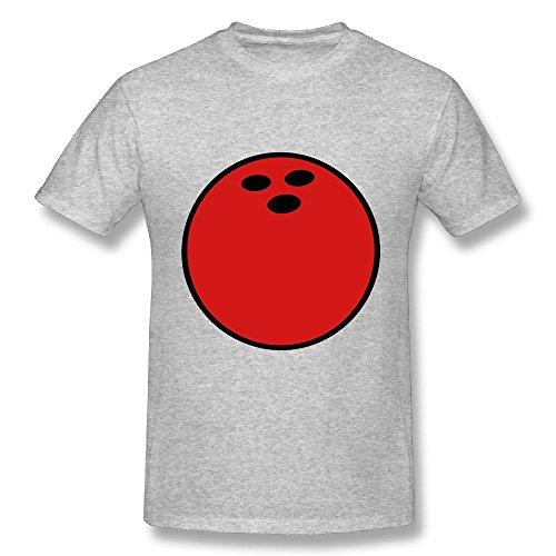 Bowling Ball Short Sleeve Large Organic Bamboo T Shirts Jacqeline Gray Double Dry Performance Man T-shirt (Mens T-shirt Organic Bowling)