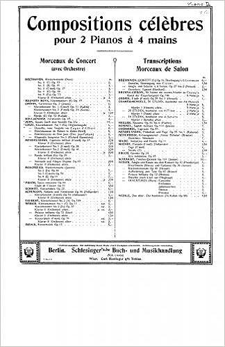 Réminiscences de Don Juan - For 2 Pianos (Liszt) - Score