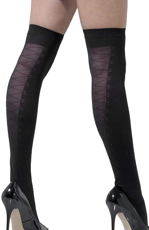 Señoras sexy corbata negra ajustada vestidos medias: Amazon.es ...