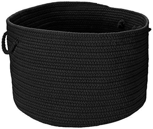 Colonial Mills BR42 18 by 18 by 12-Inch Boca Raton Solid Storage Basket, Black