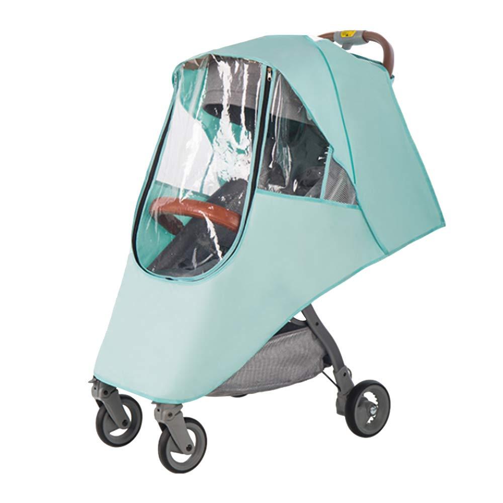 Doolland Stroller Rain Cover EVA Clear Zip Ventilation Waterproof Windproof Snow Dust-Proof Keep Warm Weather Protection Shield for Baby Strollers