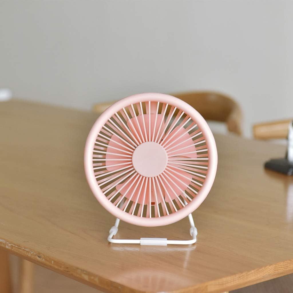 LLguz Small Desk USB Fan 5 Blades Cooler Cooling Fan USB Mini Fan Computer Opera for Home Office Car Outdoor Travel