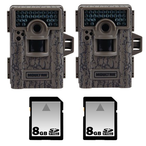 Moultrie M-880 8MP Low Glow Infrared Mini Camera 2pcs – MCG-12594 w/ 8GB Memory Card 2pcs, Best Gadgets