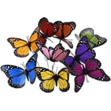 KINGLAKE Butterfly Garden Stakes Yard Planter Colorful Butterfly Garden Ornaments Decorations for Garden Patio Party Decorations 18 Pcs Set