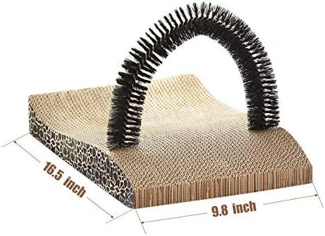 FUKUMARU Pet Fur Grooming Cat Scratching Pads,Cats Self Groomer Massager Scratcher Toy Brush 6