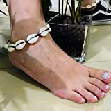 Everrich Natural Cowrie Beads Handmade Bangle