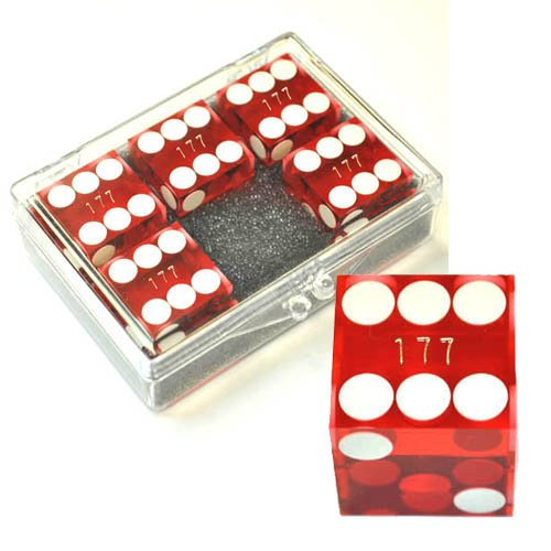 世界有名な Set of 5 Red Serialised - 19mm 19mm Transparent Casino Dice - Serialised - In Acrylic Box B0042R3824, ヨコハマシ:8aba6cab --- cliente.opweb0005.servidorwebfacil.com