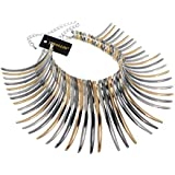 Choker Statement Necklace, Sparkling Gold Tone Canine Shape Short Collares Necklace for Women Fashion Jewelry