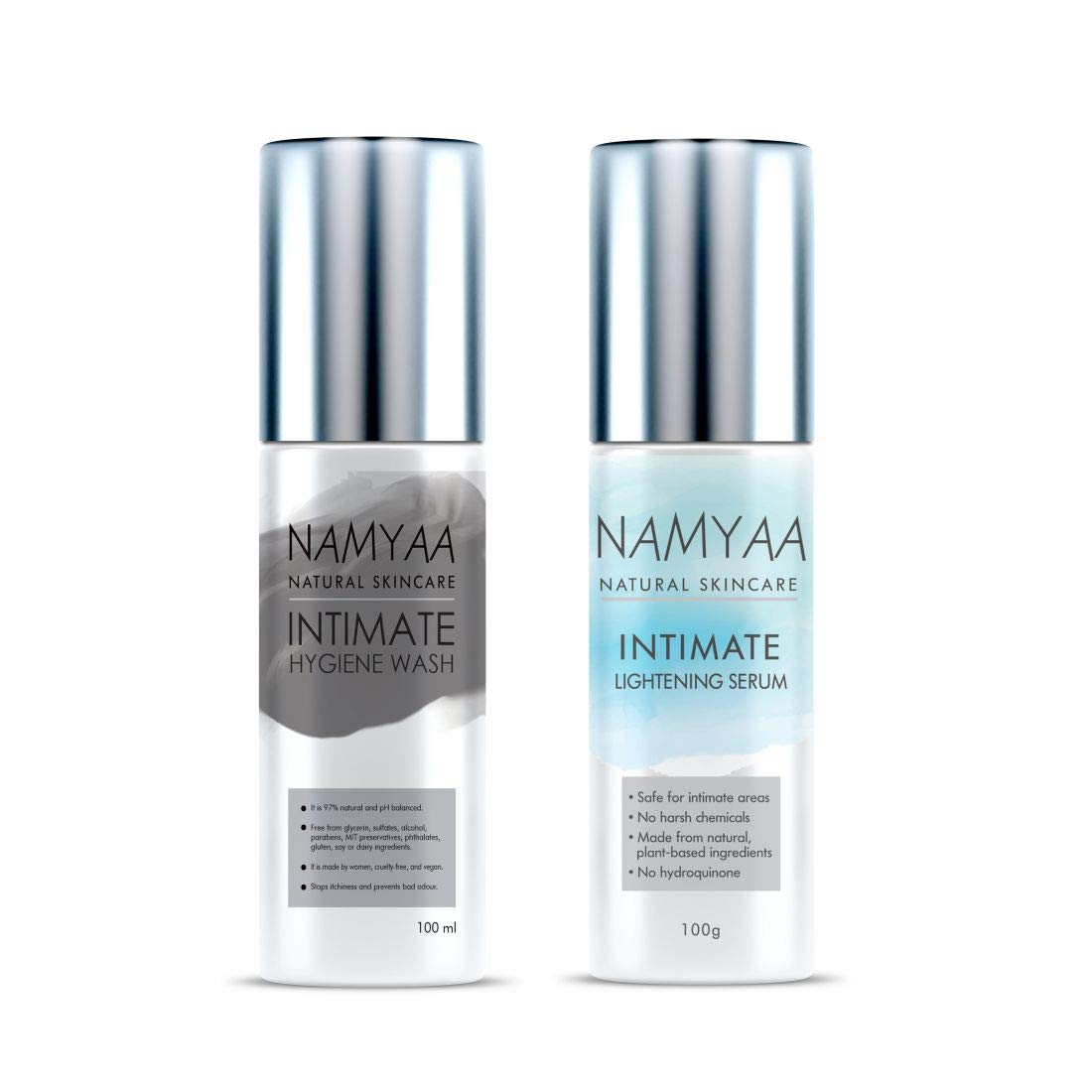 Namyaa Intimate Set (Intimate Lightening Serum, 100 g and Intimate Hygiene Wash for Men and Women, 100 g)
