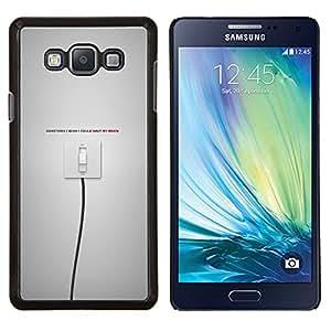 Qstar Arte & diseño plástico duro Fundas Cover Cubre Hard Case Cover para Samsung Galaxy A7 A7000 (Interruptor encendido / apagado)