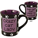 Crazy Cat Lady One Leads to another Mug Coffee Cup stoneware Enesco 4015487S