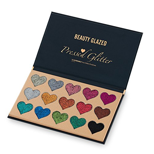 Beauty Glazed Makeup 15 Colors Pressed Heart Makeup Glitters
