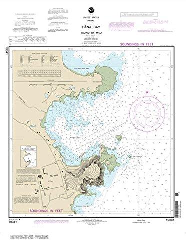 Paradise Cay Publications NOAA Chart 19341: Hana Bay Island of Maui 25.1 x 18.7 (TRADITIONAL)