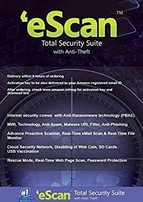 eScan Total Security Suite with Cloud Security 5 Users 1 Year