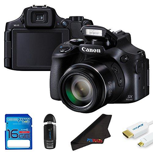 Canon PowerShot SX60 HS 16.1MP Digital Camera + 16GB Pixi-Starter Accessory Bundle Review