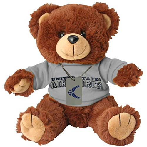 Honor Country US Air Force Plush Toy Teddy Bear Dog Tag ()