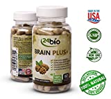Cheap 24bio Brain Food Complex – Natural Brain Booster Supplement for better memory, focus, mood- promotes concentration, cognition, clarity – Pills full of Ginkgo Biloba, Guarana, DMAE, Bacopa Monnieri Pow