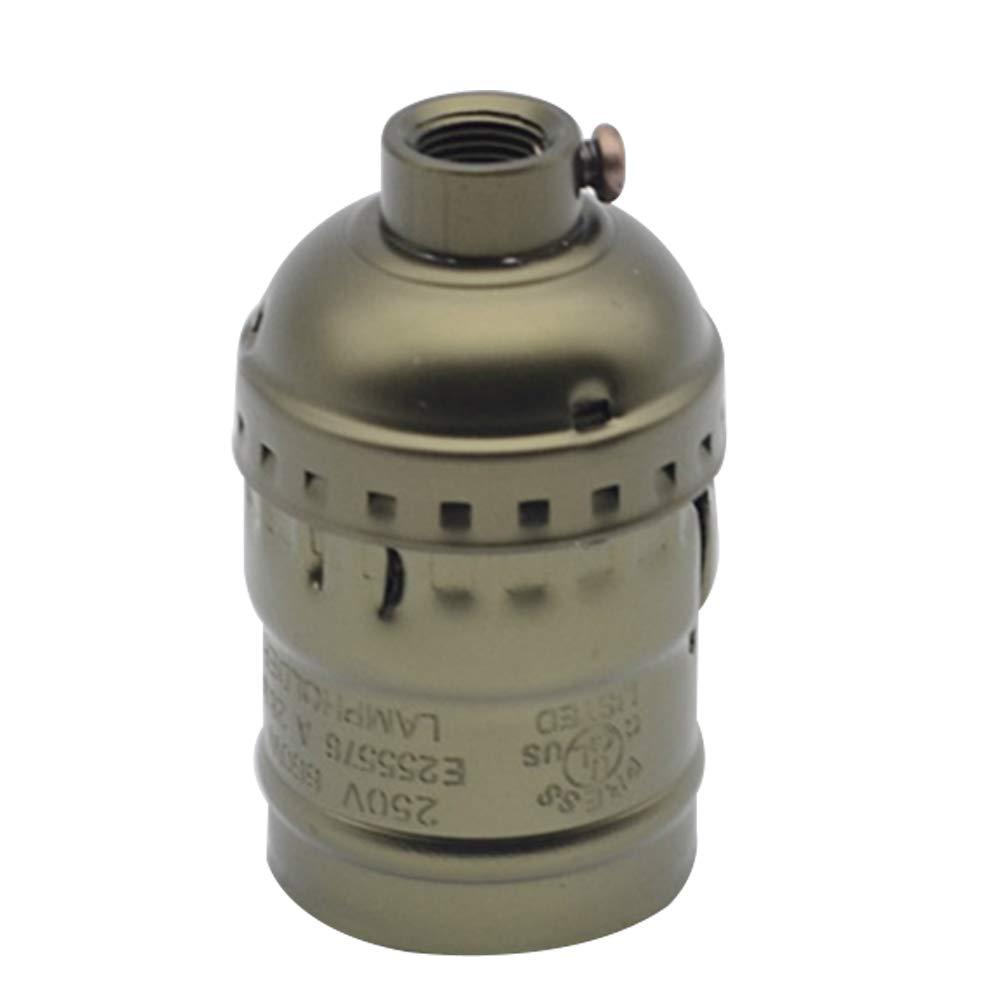 Oyfel. Vintage Support pour Ampoule E27 Douille Culot de Lampe avec Interrupteur en Cuivre Laiton Couleur Bronze lot Edison Lampe Ampoule Titulaire Vintage Laiton Socket E27